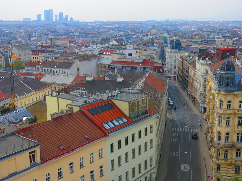 Download Vienna seen from above stock image. Image of skyline - 39625591