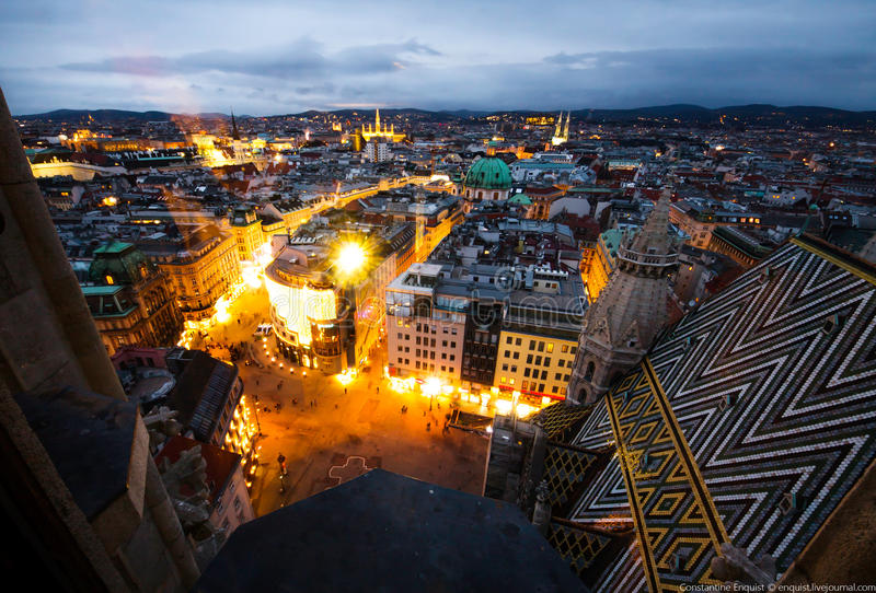 Vienna, Wien cityscape stock photos