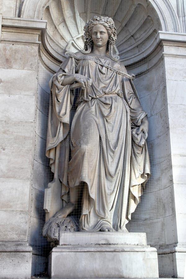 vienne Allégorie de fontaine du Danubet Construction 1869 photos libres de droits