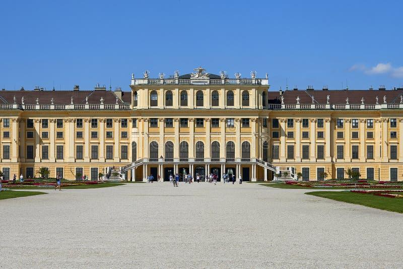 Vienne, Autriche - 14 juin 2017 : Palais et jardins de Schonbrunn L'ancienne résidence impériale d'été Le palais est un du MOS photographie stock libre de droits