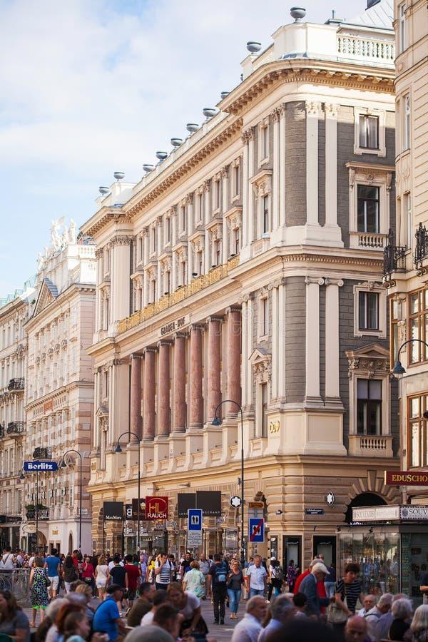 Vienne, Autriche - 6 juin 2018 : Stephansplatz avec beaucoup de touristes image stock
