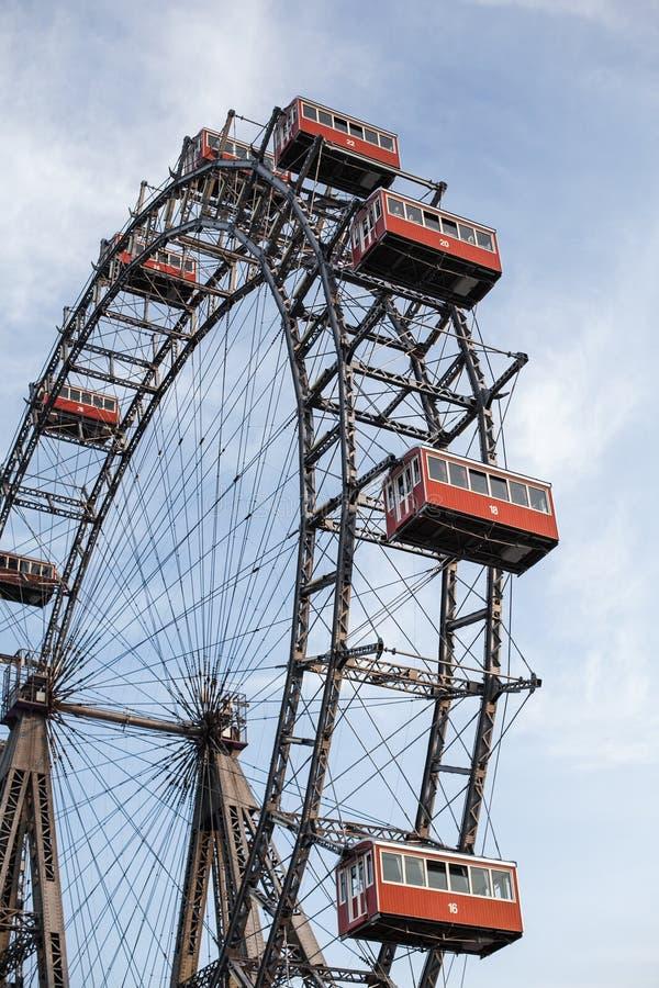 Vienne, Autriche le 5 juin 2018 : Ferris Wheel célèbre de parc de Vienne Prater a appelé Wurstelprater photo libre de droits