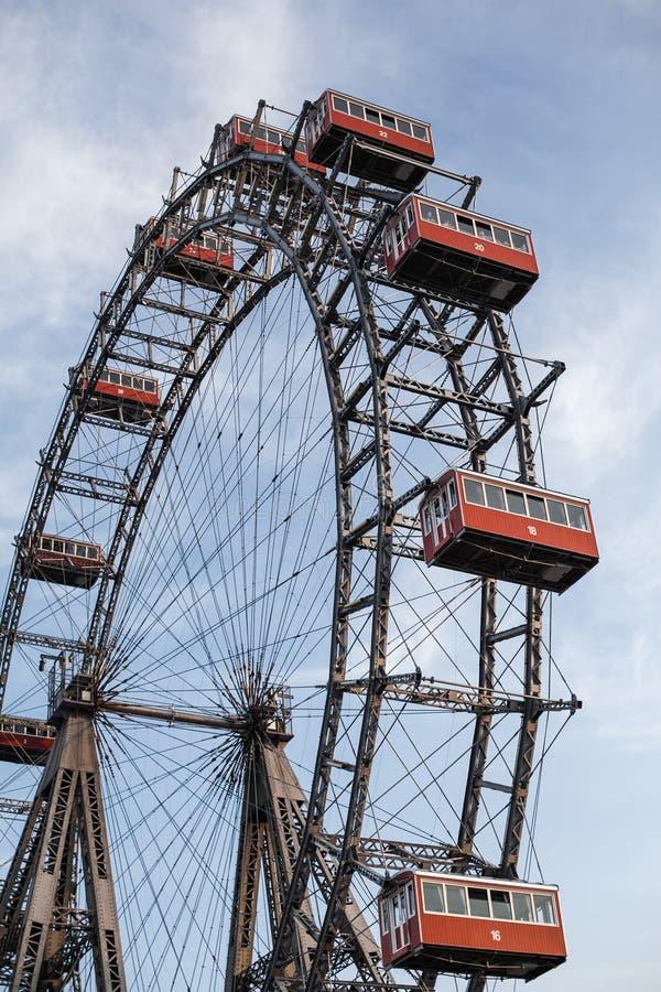 Vienne, Autriche le 5 juin 2018 : Géant Ferris Wheel Wiener Riesenrad de Prater à partir de 1897, point de repère historique de v image libre de droits