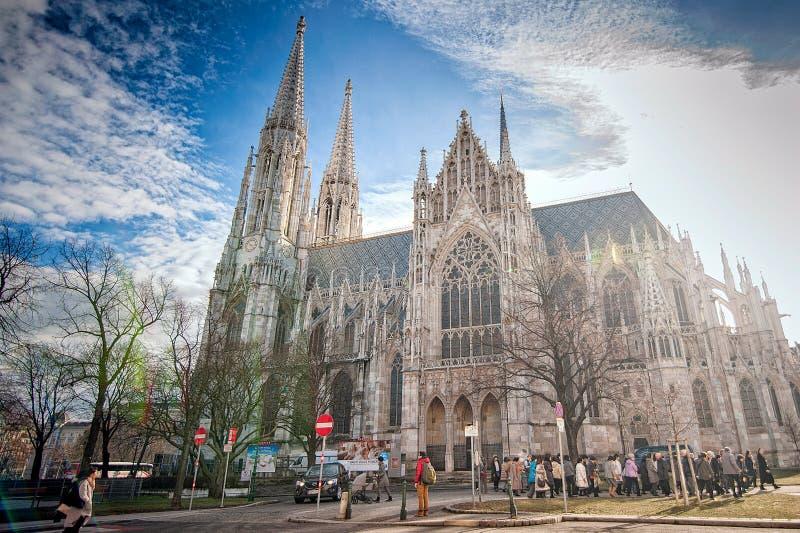 Vienne, Autriche-- Le 7 mars 2018 : L'église votive Votivkirche situé sur le Ringstrasse à Vienne photographie stock