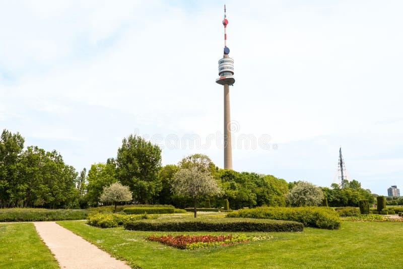 VIENNE, AUTRICHE - 16 MAI 2016 : Vue de parc photographie stock libre de droits