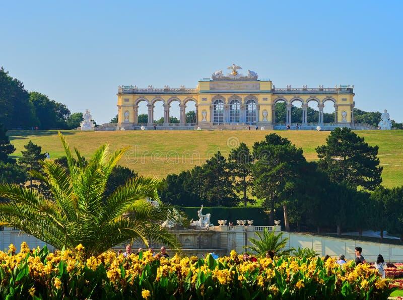 VIENNE, AUTRICHE - 8 SEPTEMBRE 2017 Palais célèbre de Schonbrunn à Vienne, Autriche images stock