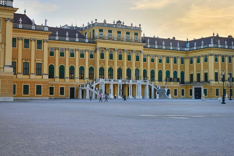 Vienne, Autriche - 25 septembre 2013 : Palais et jardins de Schonbrunn L'ancienne résidence impériale d'été Le palais est un de T photographie stock libre de droits