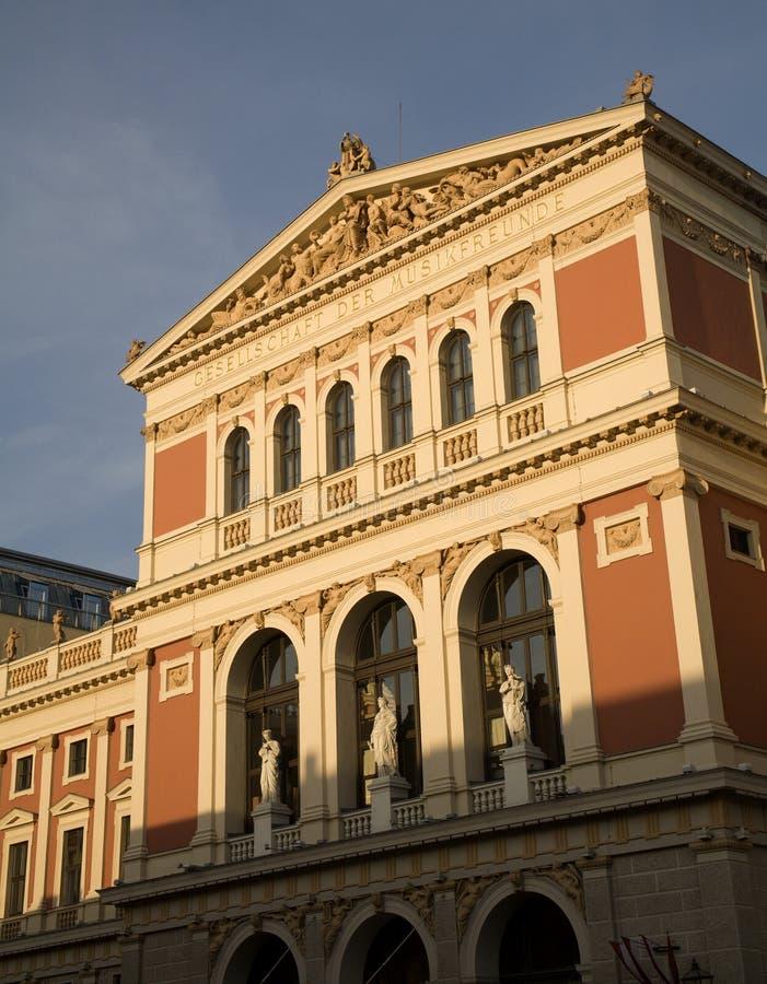 Vienne - façade dans la lumière image stock