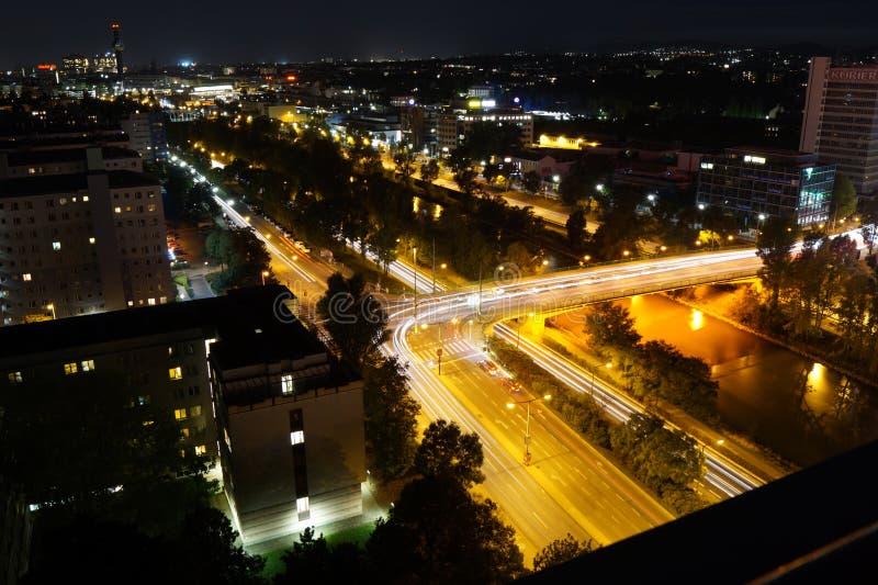 Vienne la nuit image libre de droits