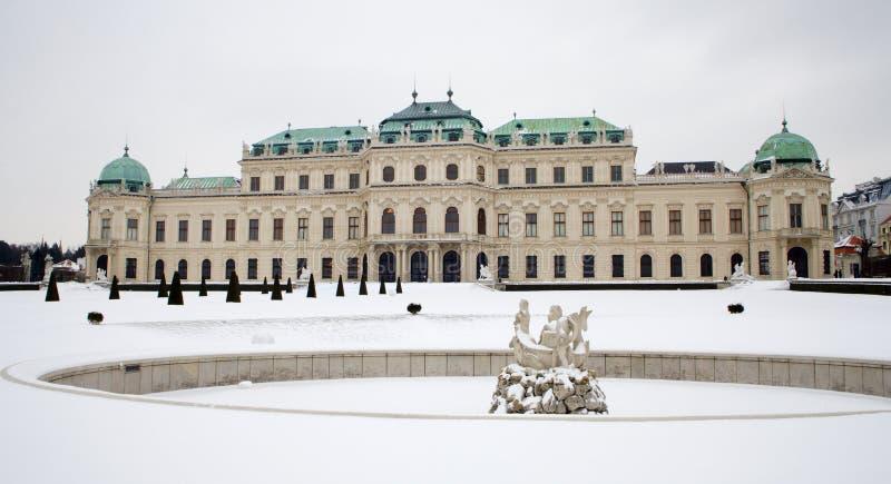 Vienne - palais de belvédère photo libre de droits