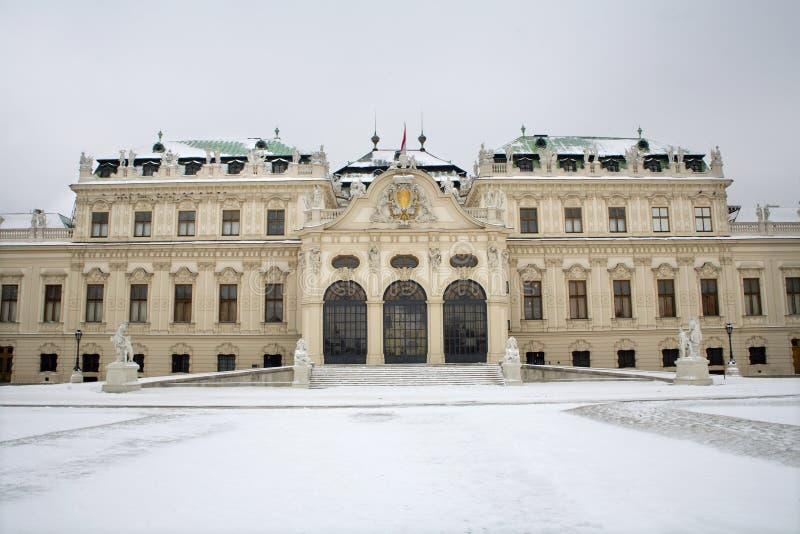 Vienne - palais de belvédère en hiver photographie stock libre de droits