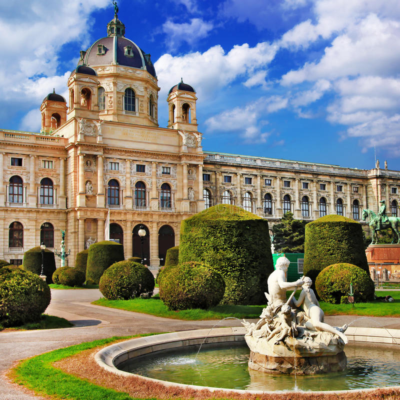 Vienne, parcs images libres de droits