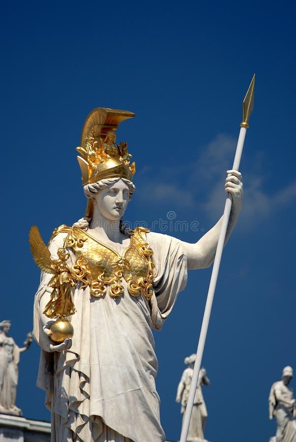 Vienne - statue d'Athene de Pallas photos libres de droits