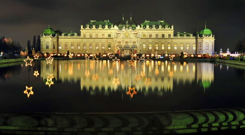 Download Viennese Christmas Night At Belvedere Palace Stock Photo - Image: 35234366