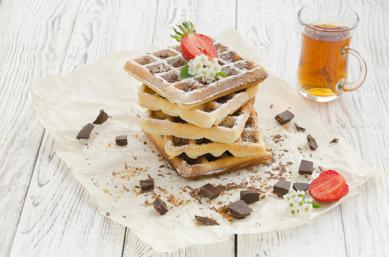 Viennese wafers. Homemade baking stock image