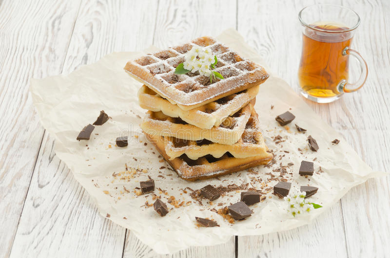 Viennese wafers. Homemade baking royalty free stock photos