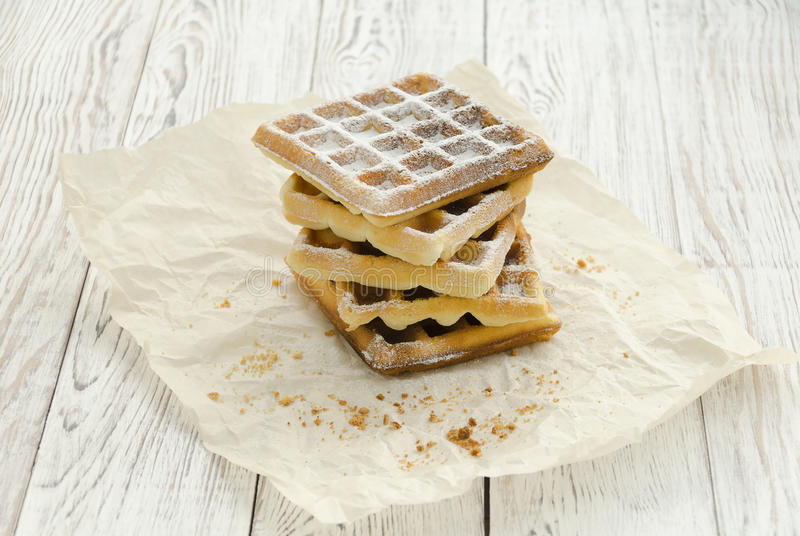 Viennese wafers. Homemade baking royalty free stock photo