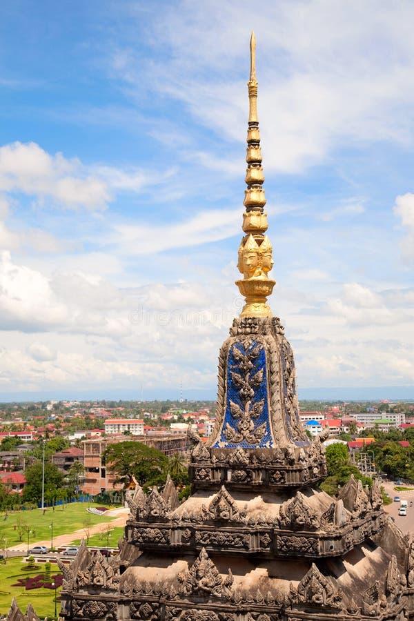 Vientiane, capitale del Laos. fotografia stock libera da diritti