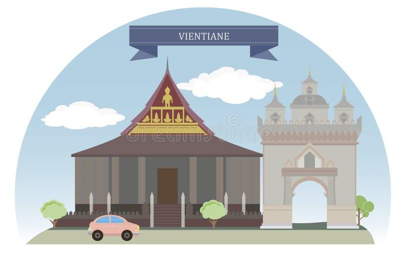 Vientiane, Laos stock illustratie