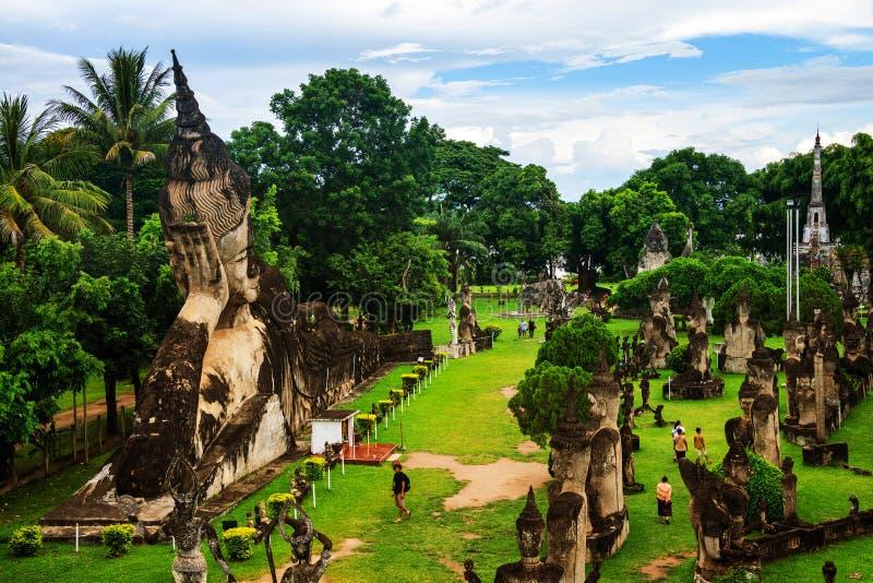 Vientiane, Laos Parco famoso di Buddha fotografia stock