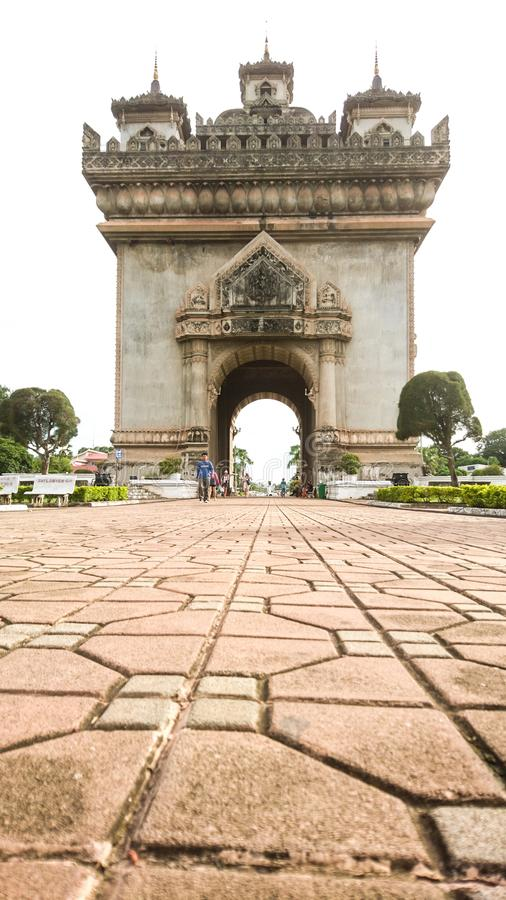 Vientiane, Laos, Patuxai royalty-vrije stock foto's