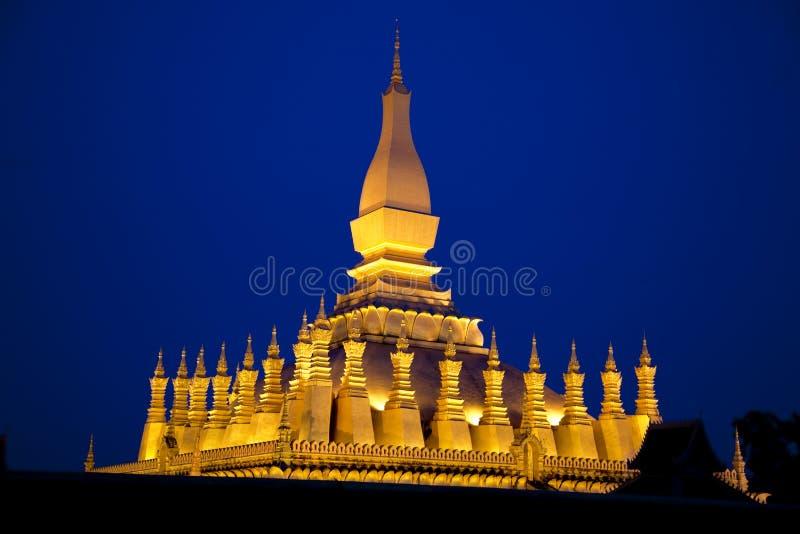 Vientiane. Pha qui Luang image stock