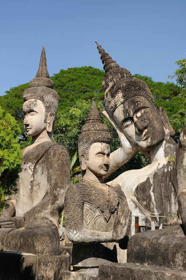 Vientiane - Xieng Khuan royalty free stock photography