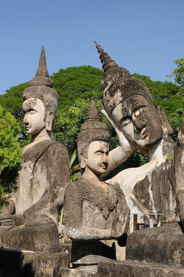 Vientiane - Xieng Khuan royalty-vrije stock fotografie