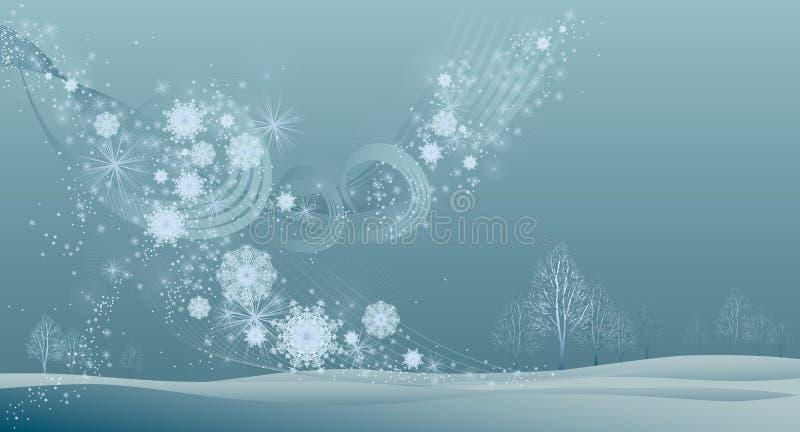 Viento del invierno stock de ilustración