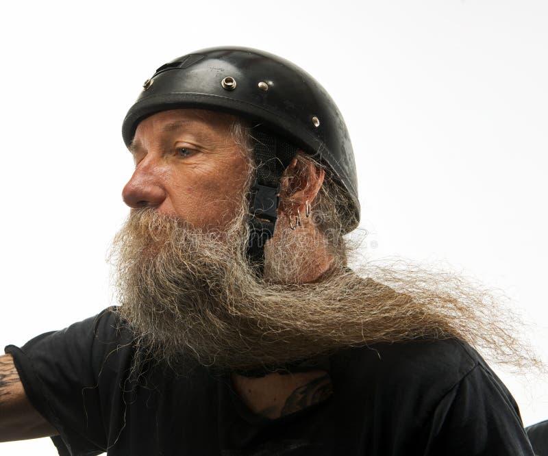 Viento en su barba fotografía de archivo libre de regalías