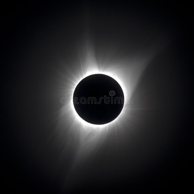 Viento solar y eclipse de la corona fotografía de archivo libre de regalías