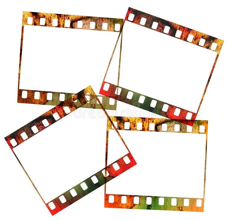 Vier 35mm dia's, royalty-vrije stock foto