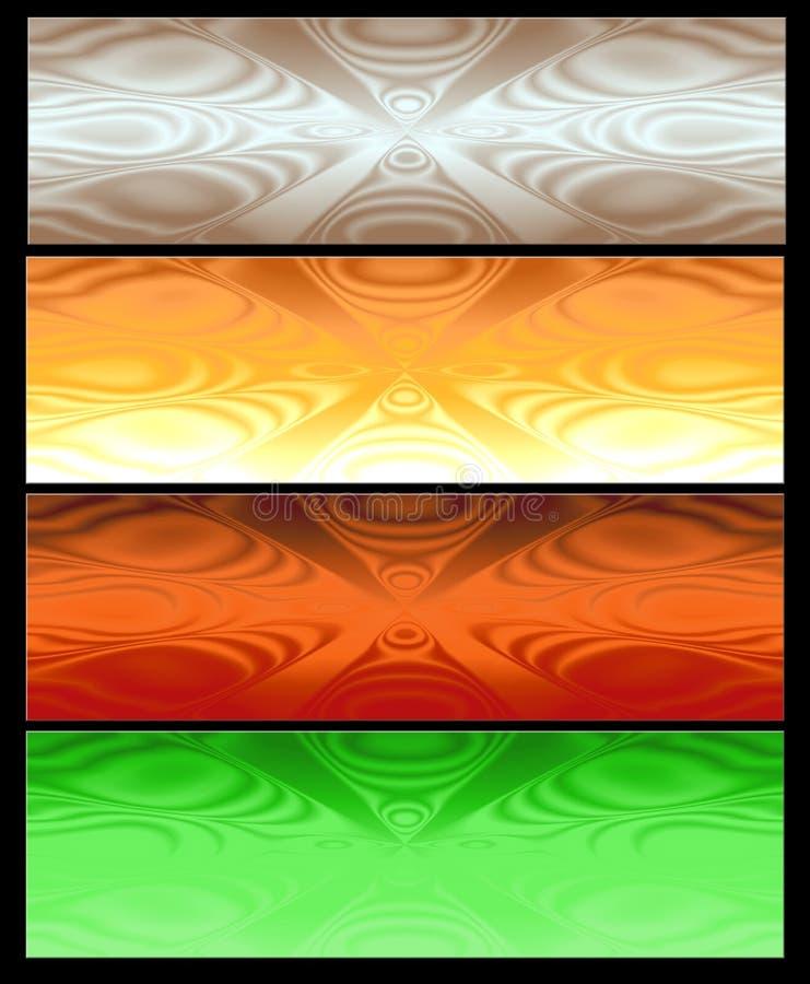 Vier Abstracte Webbanner royalty-vrije illustratie