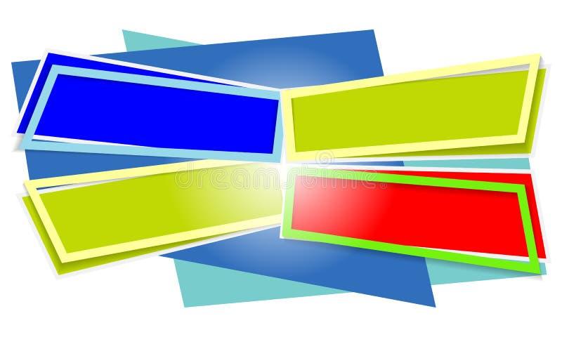 Vier abstrakte Textrahmen lizenzfreie abbildung