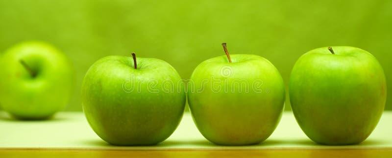Vier appelen stock afbeelding