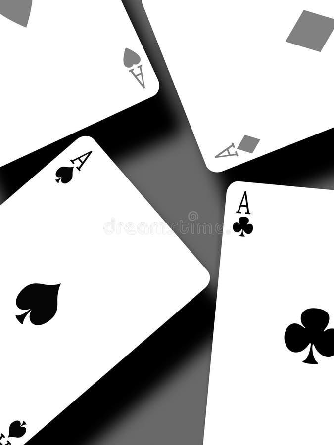 Vier azen royalty-vrije illustratie