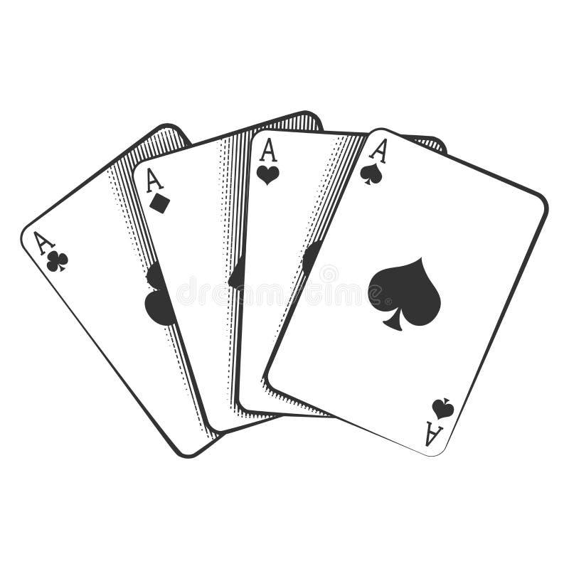 Vier Azen vector illustratie