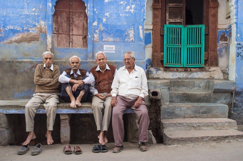 Vier bejaarden royalty-vrije stock afbeelding
