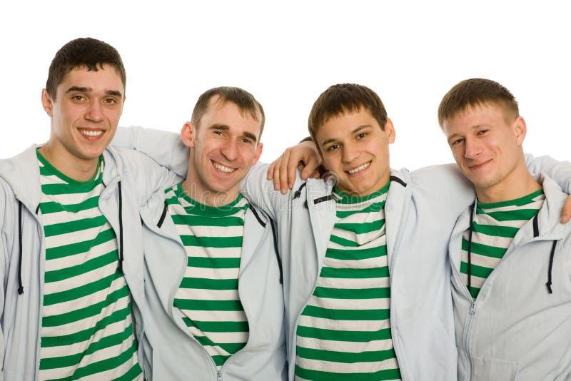 Vier beste vrienden stock foto's