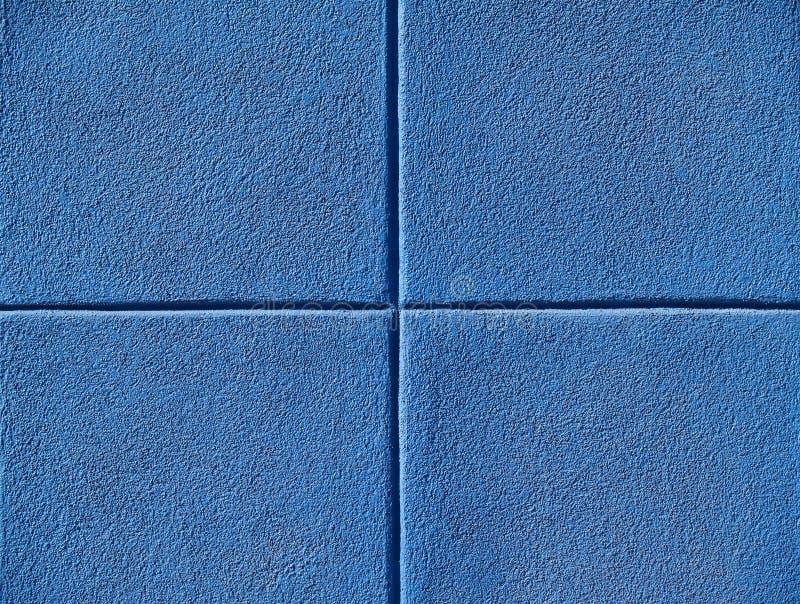 Vier Blauwe Vierkanten stock afbeeldingen