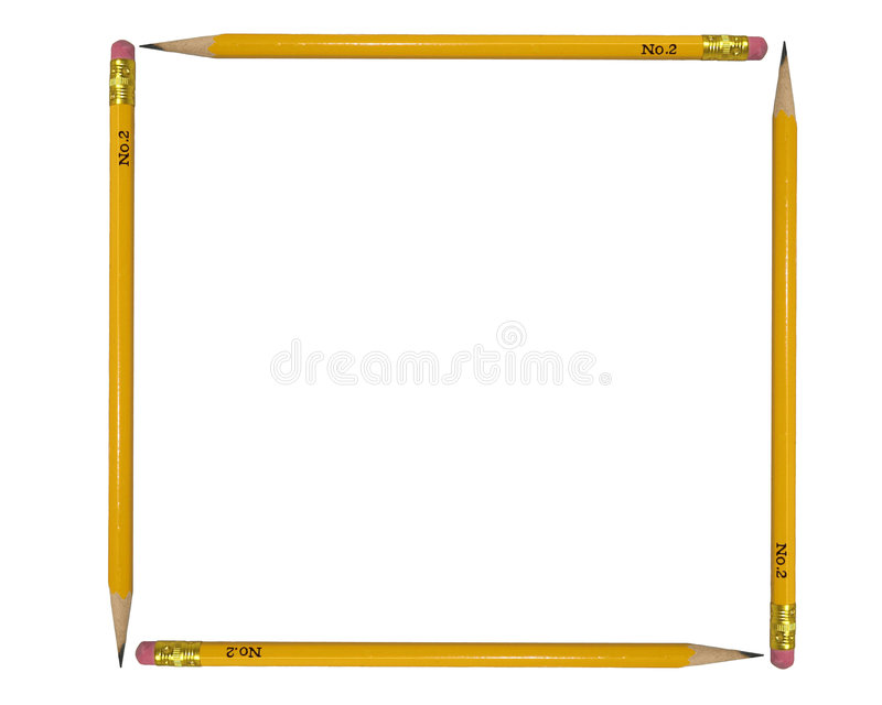 Vier Bleistifte stockbild
