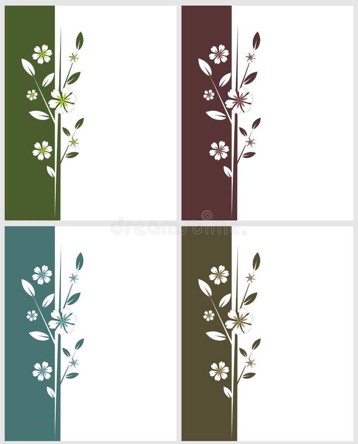 Vier bloemenkaarten
