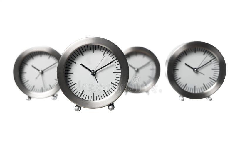 Vier Borduhren stockbild