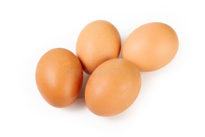 Vier Bruine Eieren royalty-vrije stock foto