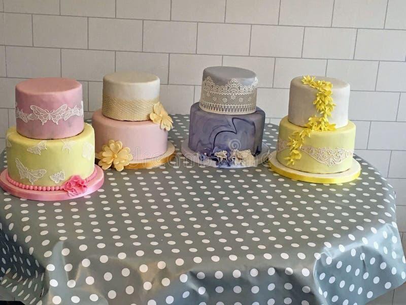 Vier cakes stock foto