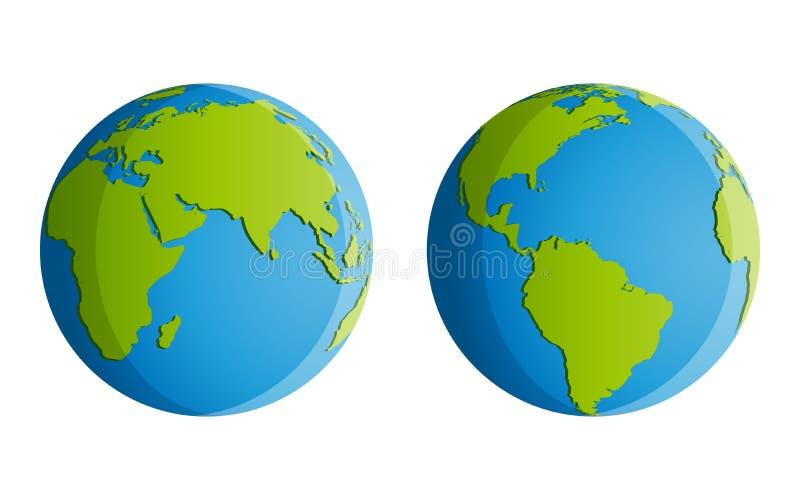 Vier Continenten stock illustratie