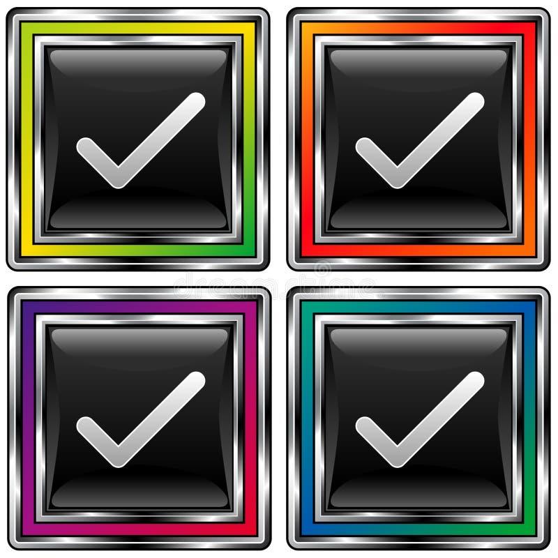 Vier Controles Van Vierkanten Royalty-vrije Stock Foto