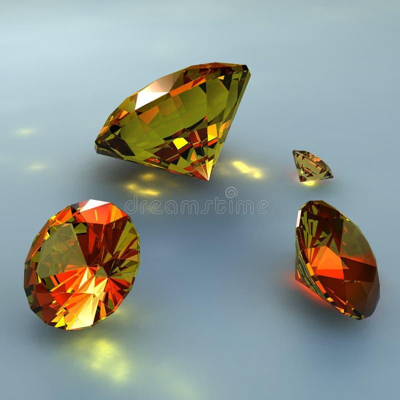 Vier diamanten stock illustratie