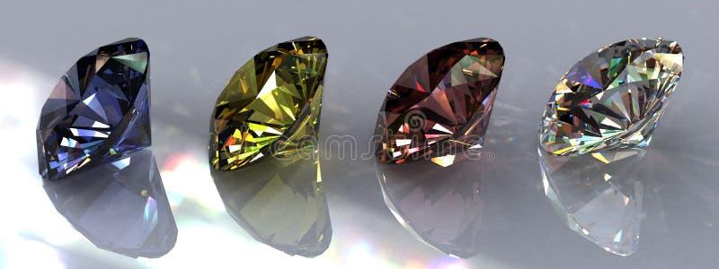 Vier Diamanten royalty-vrije illustratie