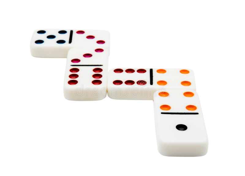 Vier Dominos lizenzfreies stockfoto